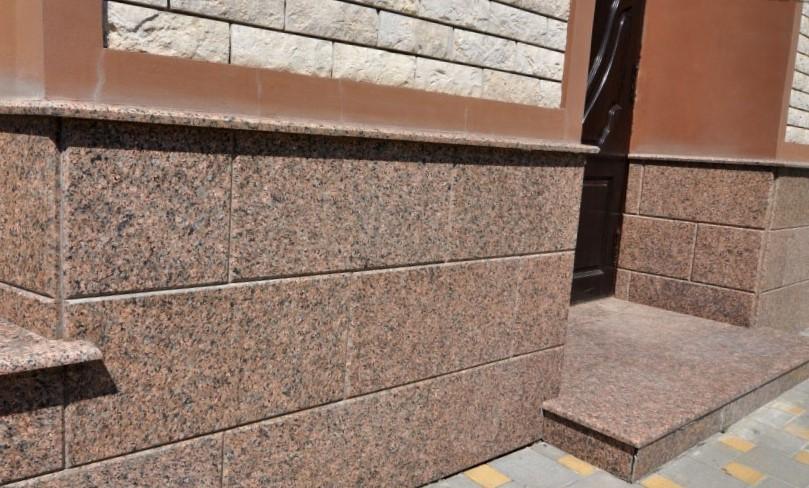 гранит куртинский ступени фасад цоколь