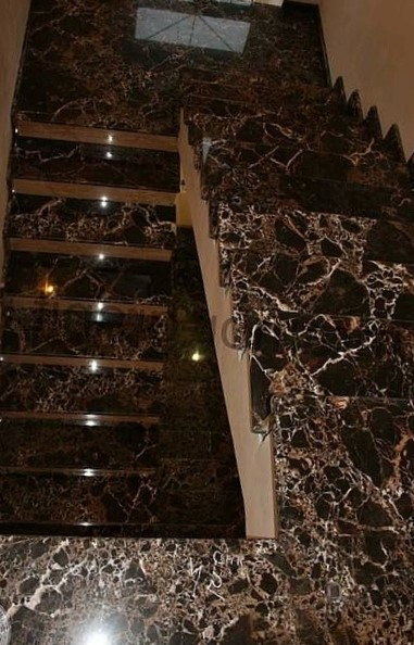 мрамор Имперадор Дарк ступени лестница