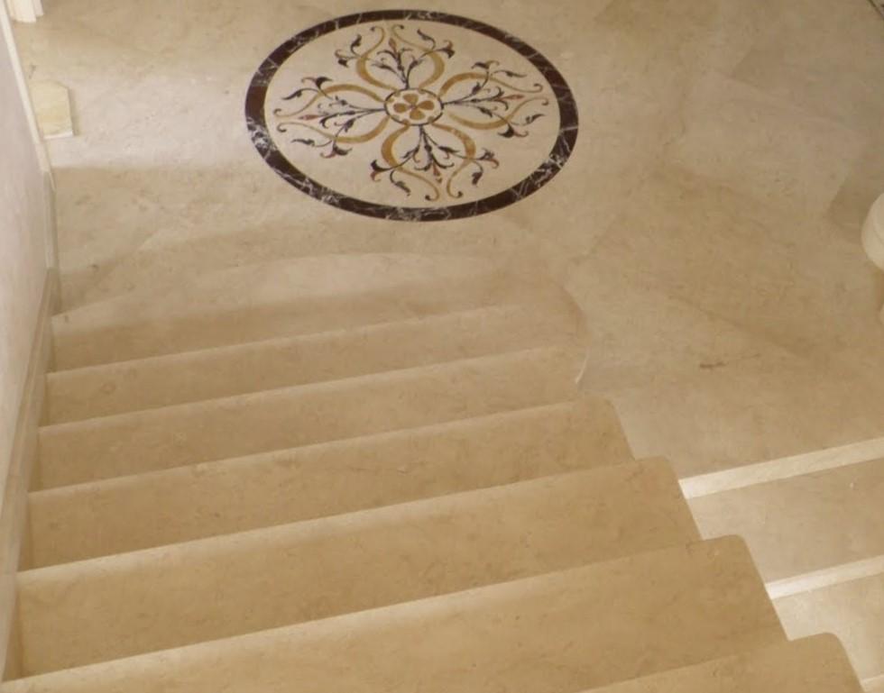 мрамор крема нова ступени лестница