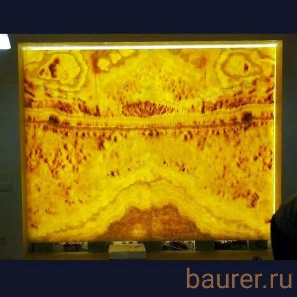 Панно. оникс с подсветкой. изделия из натурального камня