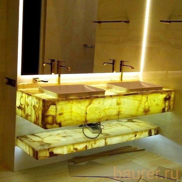 Столешница из оникса. оникс с подсветкой. панно из оникса. изделия из натурального камня